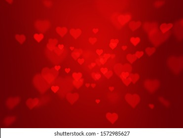 red gradient abstract background with heart shape texture for valentine and christmas.