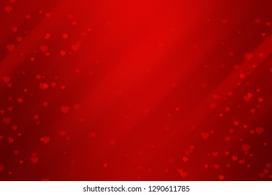 red gradient abstract background with stripes and heart shape for valentine.