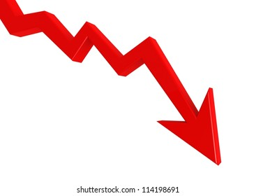 Red graph down