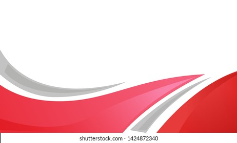 red and gray color abstarct effect with white background