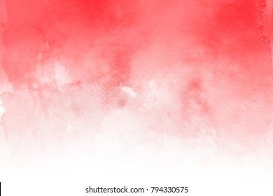 Red with gray and white realistic watercolor texture on paper background.