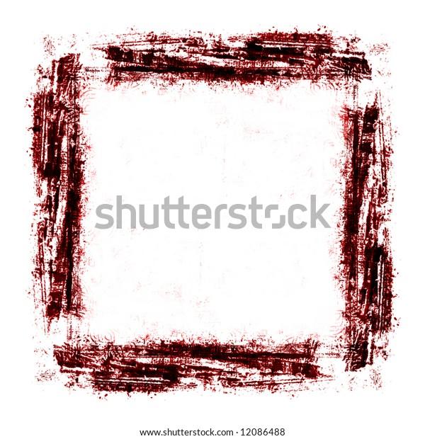 Red Grunge Border Background