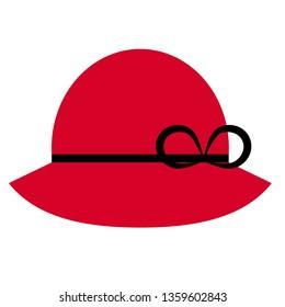 Red hat flat illustration on white