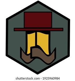 the red hat man cowboy logo