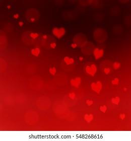 red heart in bokeh background