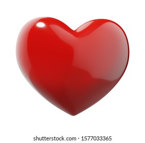 Red Heart with clipping path - 3D illustration