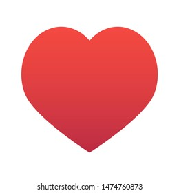 Red heart isolated on white background illustration