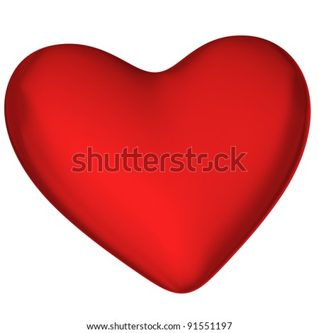 Red Heart Love Symbol 3 D Stock Illustration Royalty Free Stock