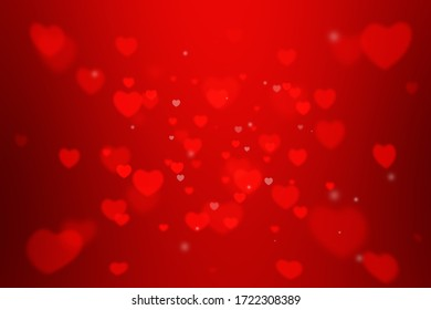 red heart shape glitter background for Valentine's Day