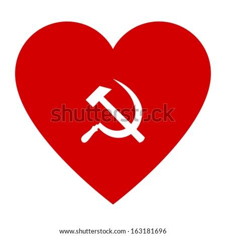 Red Heart Symbol Socialism Stock Illustration 163181696 Shutterstock