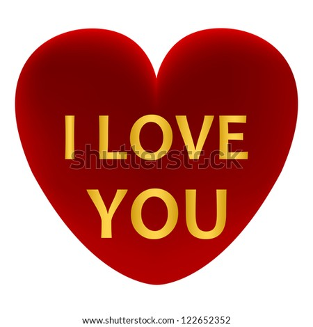 99c5f0ce487 Red Heart Words Love You Stock Illustration - Royalty Free Stock ...