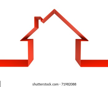 Red home outline