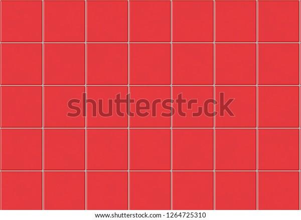 Red Kitchen Bathroom Tiles Stock Illustration 1264725310