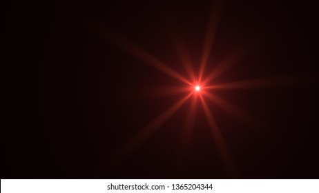 red lens flare