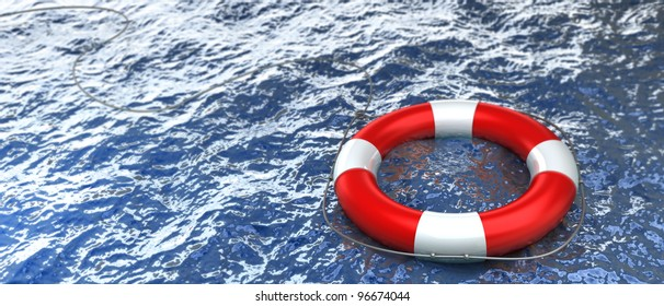 Swimming Pool Safety Ring Lifeguard Buoy Water Sports Accessories Boat Decor JA