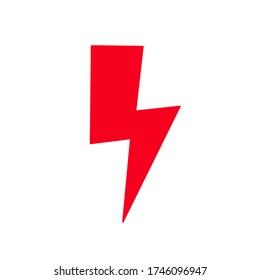 red lightning on a white background. traffic symbol Strajk Kobiet