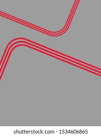 Red line art background. Color creative letterhead design.  Cover, brochure, flyer template design with abstract background. Jpeg illustration