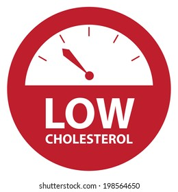 Red Low Cholesterol Bathroom Weight Scale Icon, Sign or Label Isolated on White Background