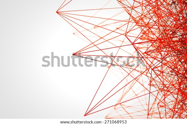 red low poly wire construction concept concepts connection