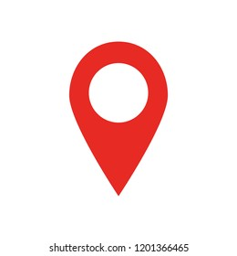 Red map location pin
