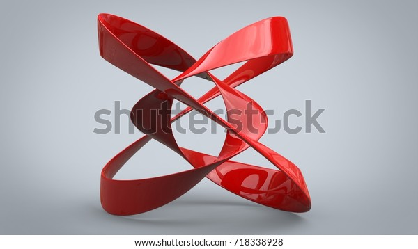 Red Metal Abstract Art Sculpture 3d Stock Illustration 718338928