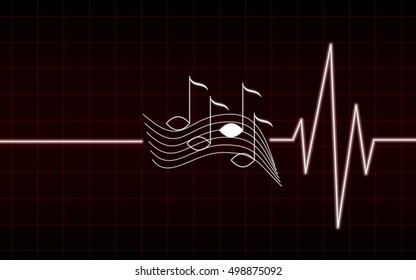 red music heart beating, can not live without music