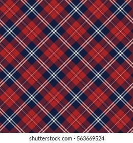 red and navy bias tartan