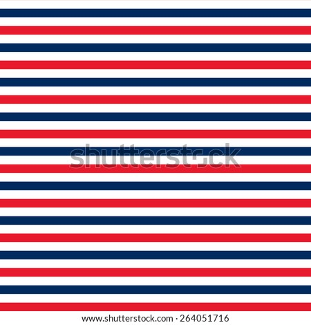 2554267c124 Red Navy Blue White Horizontal Stripes Stock Illustration 264051716 ...