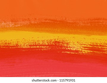Red / orange abstract hand painted background