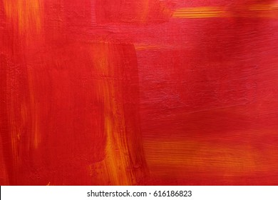 Red and orange acrylic textured background. Selected focus.