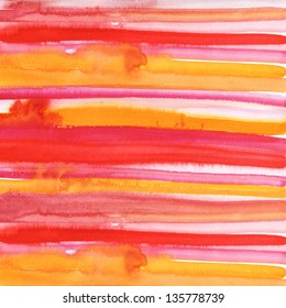 Red and orange watercolor hand drawn brush strokes
