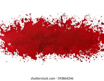 Red paint stripe. Street art style grunge abstract background. Raster illustration