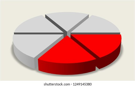 royalty free stock illustration of pie chart five sixths stock
