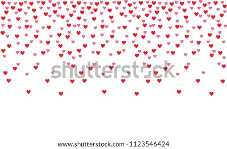 red pink heart shape background wallpaper stock illustration