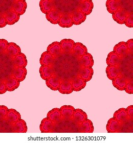 Red and pink seamless pattern for wallpaper, backgrounds and fabrics