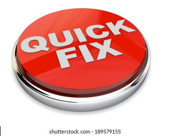 Red Quick Fix Button over white Background