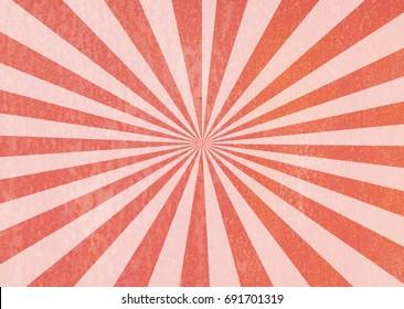 Red ray sunburst style background.
