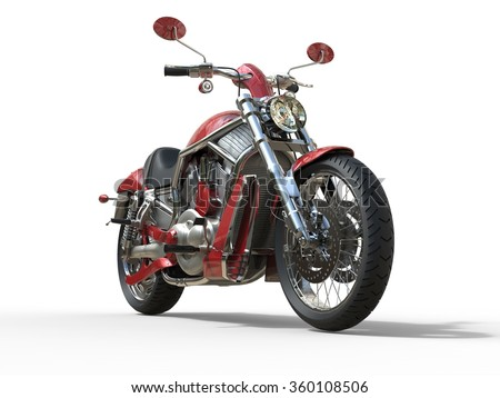 Red Roadster Bike Front