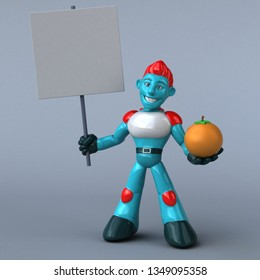 Red Robot - 3D Illustration
