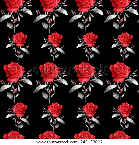 Red Rose Patternfor Textile Wallpaper Pattern Fills Covers Surface