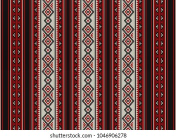 Red Sadu Traditional Bedouin Rug Pattern Background