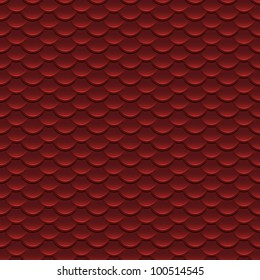 Red Scales Seamless Pattern Illustration