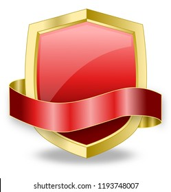 Red Shield Web Design Promotion Icon