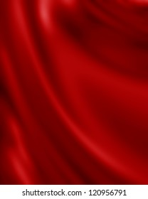 Red silk background with some soft folds and highlights