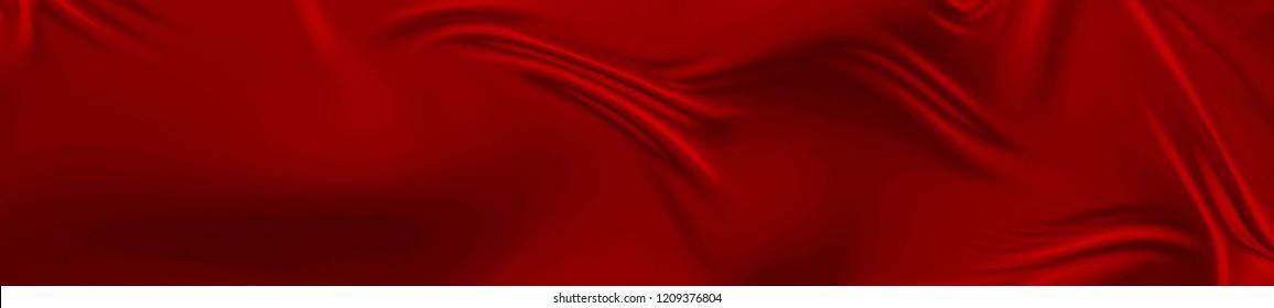 Red Silk Background. Widescreen