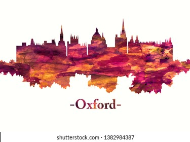 Red skyline of Oxford, a city in central southern England, revolves around its prestigious university, established in the 12th century
