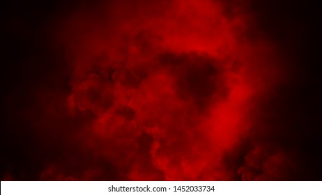 Red smoke on isolated background. Mistery fog and stream texture overlays.