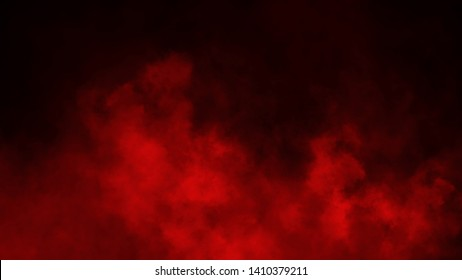 Red smoke stage studio. Abstract fog texture overlays. Design element
