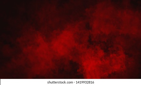 Red smoke stage studio. Abstract fog texture overlays. Design texture.