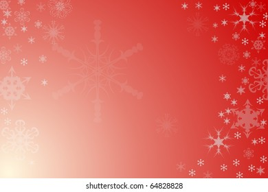 Red Snowflake Holiday Background